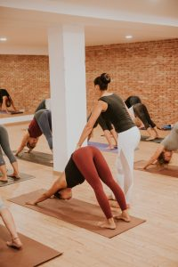 House of Yoga, Javea, Costa Blanca, Spain. Checking on the students